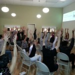 Chair Yoga with Raven at Holistic Chamber of Commerce Meeting