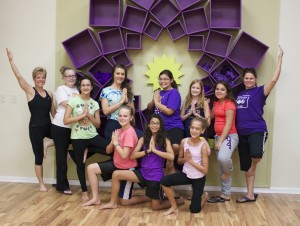 Girl Scout Troop doing Yoga